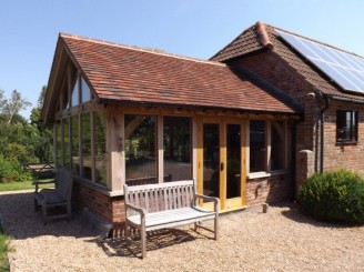 Genesis oak framed buildings in kent for Garden rooms kent